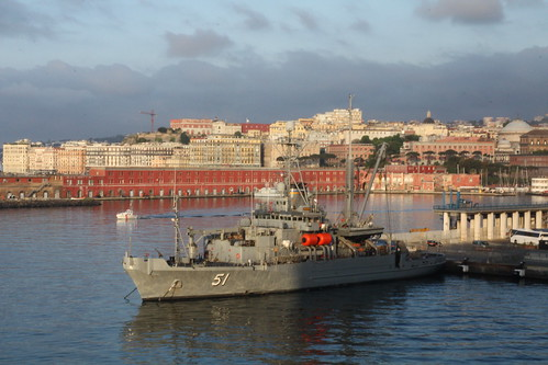 U.S ship in the port of Naples