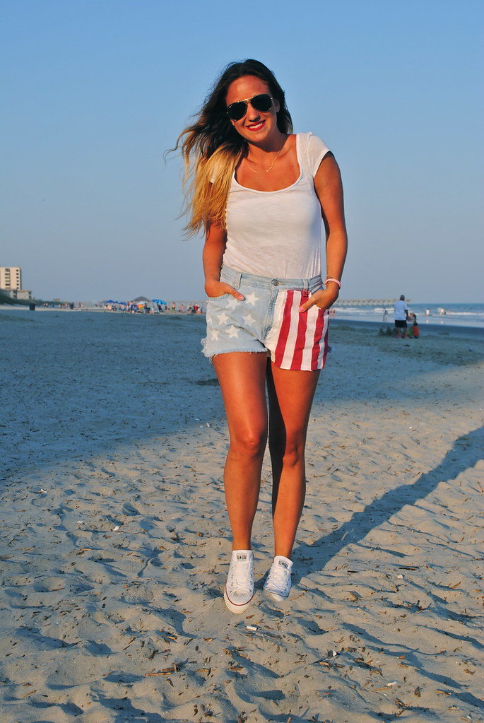 american flag denim shorts DIY