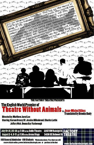 Factory Theatre Theatre Without Animals @ Arena Theatre