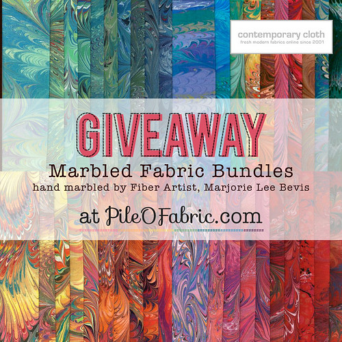 Marbled Fabric Bundles Giveaway!