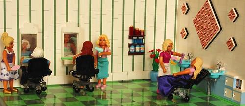Saturday at the hair salon