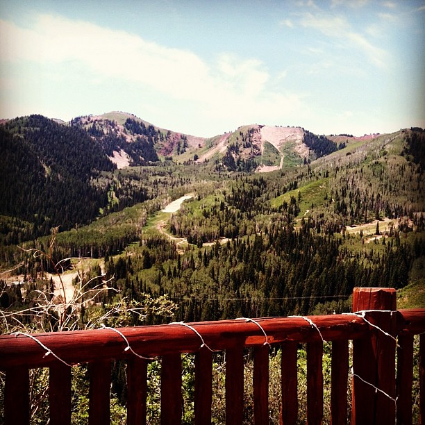 The view during lunch up at The Canyons. It's gorgeous! #evoconf