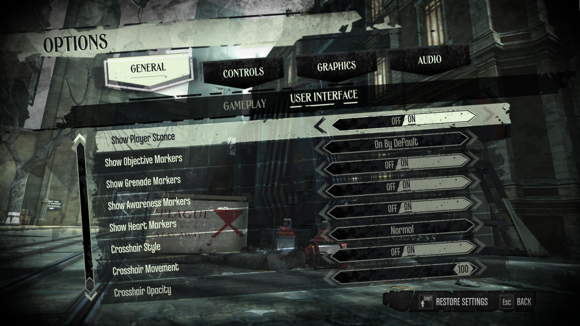 Game News - Dishonored's PC UI Options Revealed   rpg clowndex