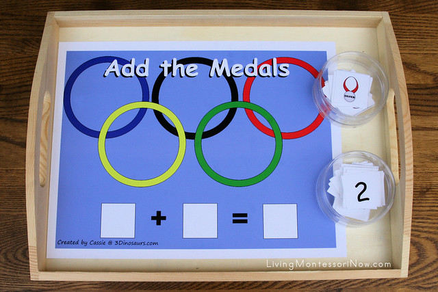 Add the Medals Math Tray