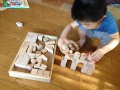 積み木で遊ぶ (2012/7/16)