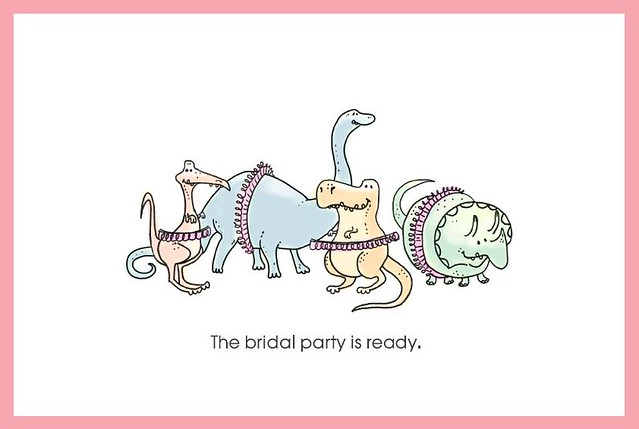 The bridal party is ready.