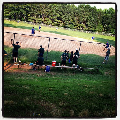 Cheering on the St Philip softball team!