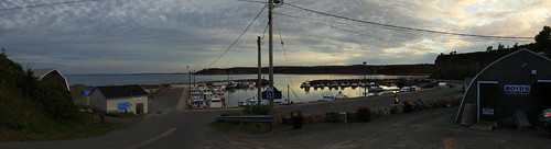 sunset panorama canada port boats novascotia