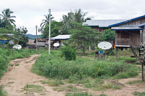 Bamboo huts and satellite dishes