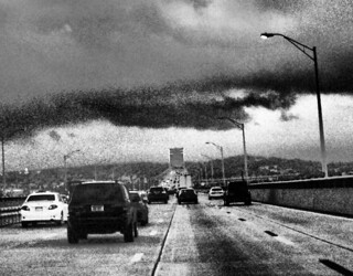 Tappan Zee Bridge under a rainstorm