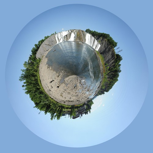 Cohoes Falls in Polar Panorama