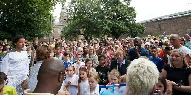 An Olympic tribute to Dennis St Croix in Wapping Gardens - 21 July 2012