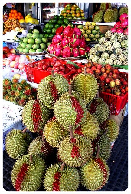 phnom penh central market durians