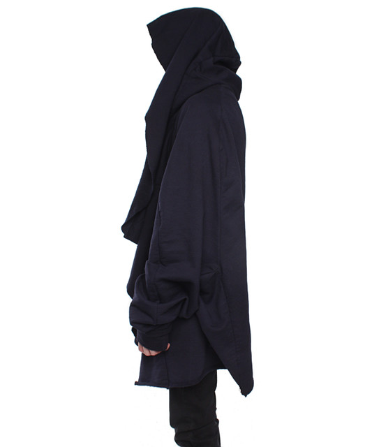 TUUKKA13 - INSPIRATION - WANTED - BLACK LONG TOP / SHIRT / HOODY / VEST.