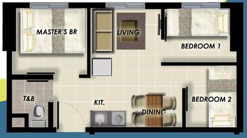 3-bedroomunitlayout