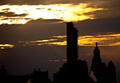 Smoke Stacks & Con Edison Clock Tower at Sunset - NYC