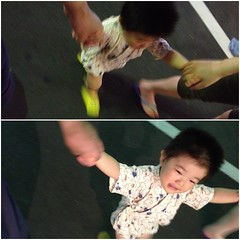 盆踊りに向かっています (2012/7/27)