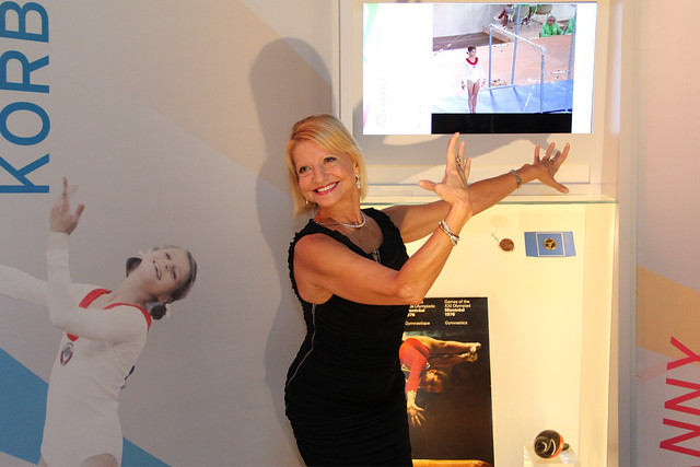 Legendary gymnast Olga Korbut at The Olympic Journey: The Story of the Games ©ROH/2012