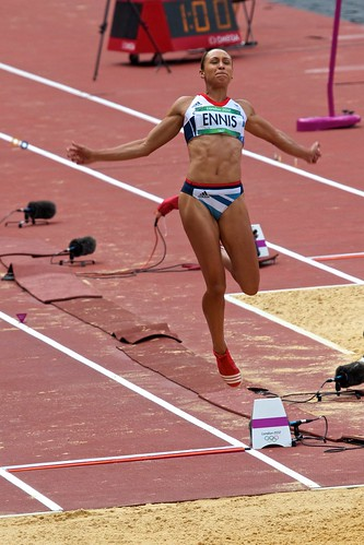Jessica Ennis long jump Sat 4th