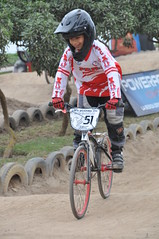 mountain bike racing(0.0), bmx bike(0.0), cyclo-cross bicycle(0.0), cyclo-cross(0.0), downhill(0.0), mountain biking(0.0), racing(1.0), bicycle racing(1.0), mountain bike(1.0), bicycle motocross(1.0), vehicle(1.0), sports(1.0), race(1.0), sports equipment(1.0), downhill mountain biking(1.0), cycle sport(1.0), extreme sport(1.0), cross-country cycling(1.0), bmx racing(1.0), land vehicle(1.0), bicycle(1.0),