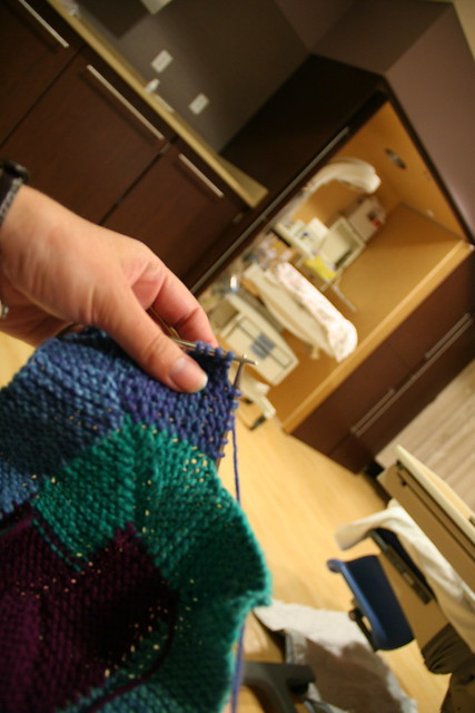 labor, delivery, and knitting
