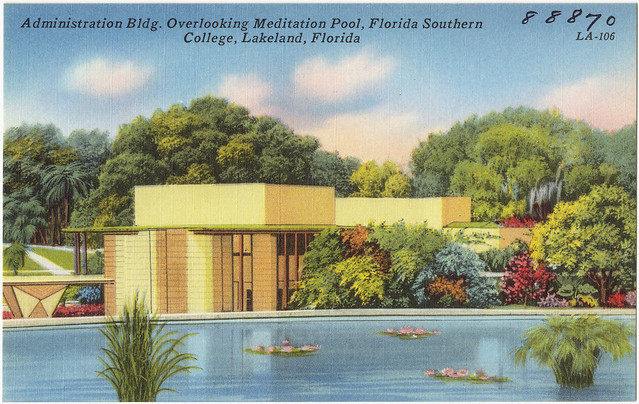 Administration Bldg Overlooking Mediation Pool Florida Southern College Lakeland Florida