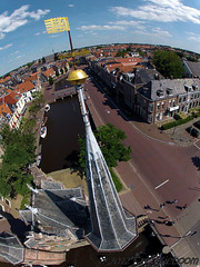 Tower of Watergate in Sneek, the Netherlands
