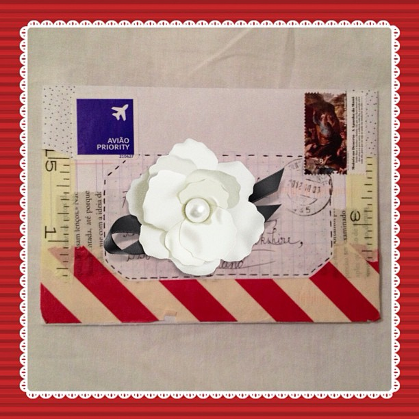 My #lovelyletter via the lovely letter #swap #portugal #snailmail #washitape #stamp #airmail