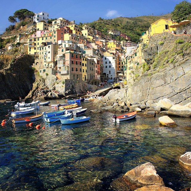 Picturesque harbor of Riomaggiore