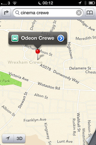 Apple Maps Crewe