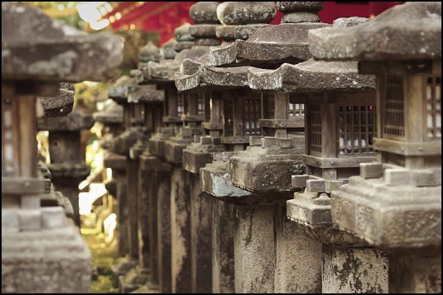 Stone lanterns at Kasuga-taisha