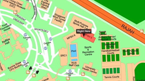 Multi Purpose Hall (MPSH5) @ & Recreation Centre - National University Of Singapore (Sports) - 2 Sports Drive 1 (S)117561
