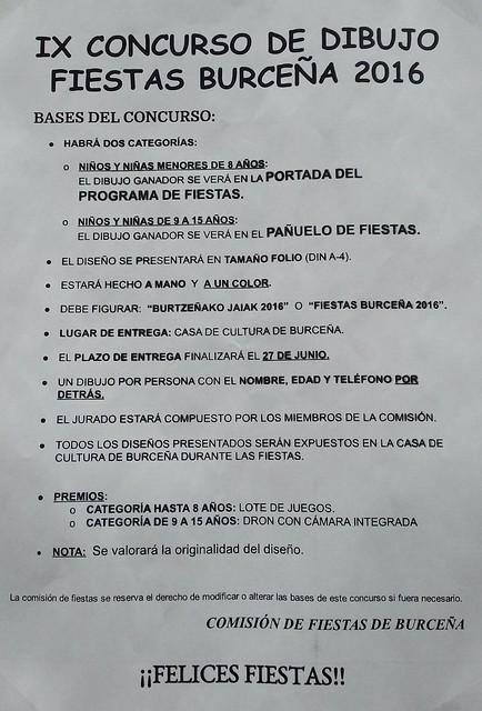 IX concurso de dibujo fiestas de burtzeña 2016