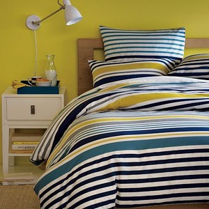 west elm gallery stripe duvet