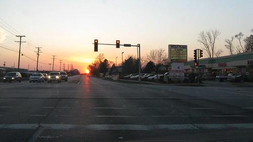 Early Springtime sunset in Des Plaines Illinois. Monday, March 19th, 2012. by Eddie from Chicago