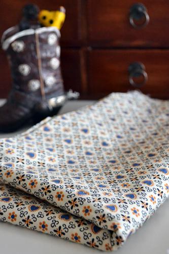 Vintage Schwartz Liebman Textiles Geometric Hearts Fabric
