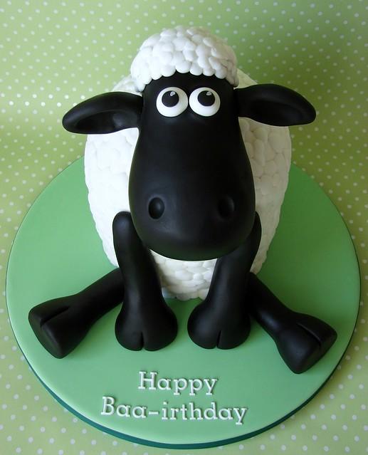Green Sheep Cake Topper