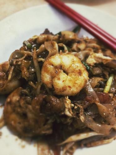 大虾炒粿条