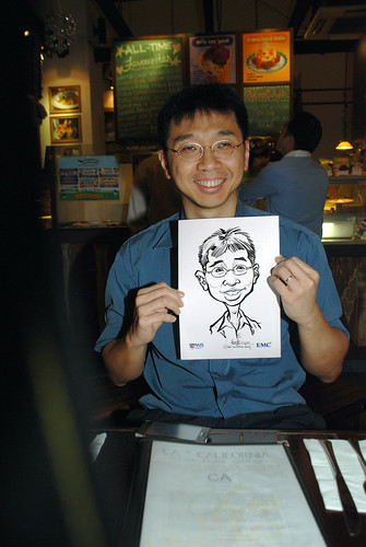 caricature live sketching for emc NUS - 5