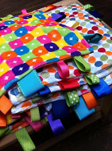 Ribbon minky blankets