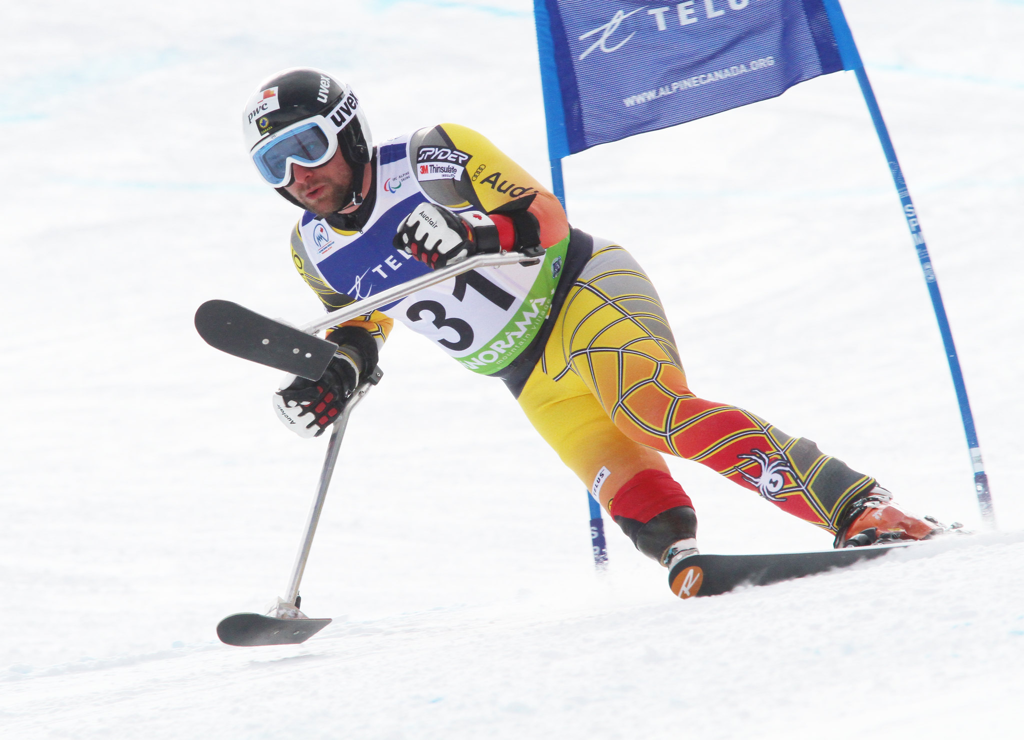 Matt Hallat in an IPC World Cup super-G in Panorama, B.C.