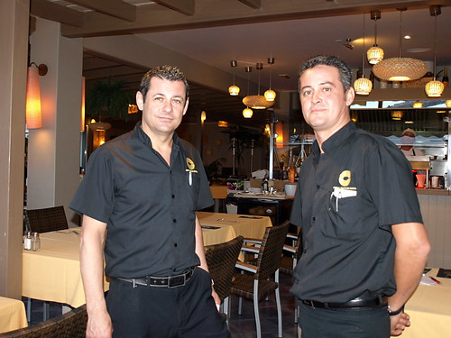 Carlos and José at La Peskera Restaurant, Costa Teguise, Lanzarote