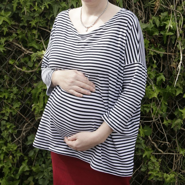Inder - Stripey Maternity Top.