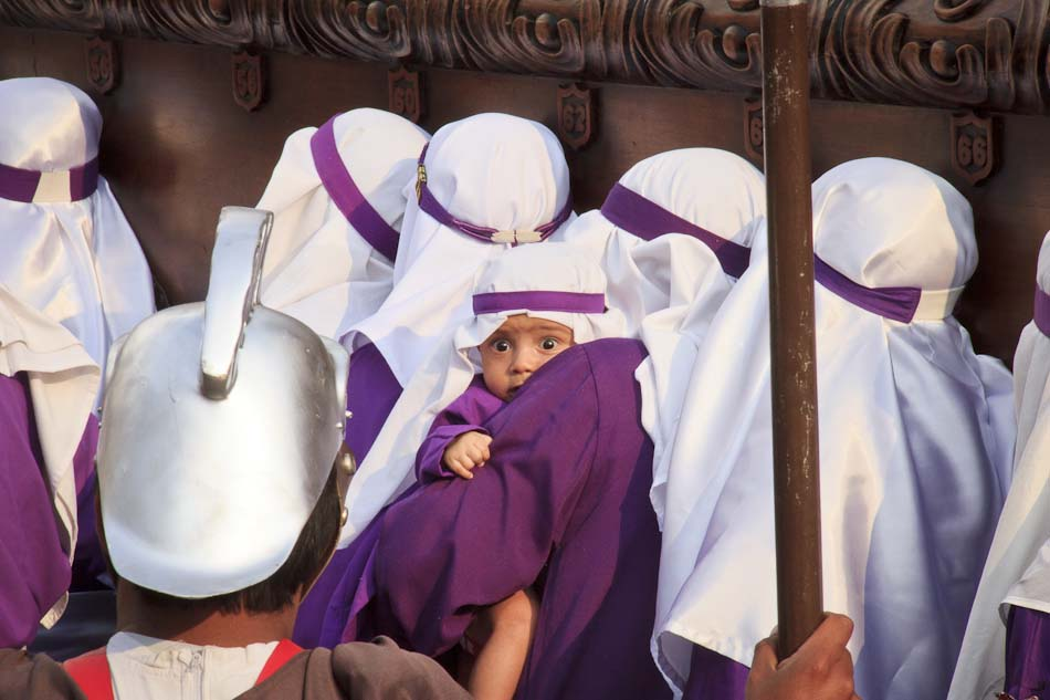 Photo of the Week: Baby Penitent at Semana Santa, Antigua