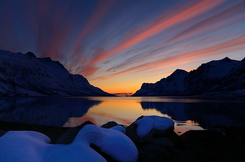 sunset sky seascape reflection colors clouds landscape nordnorge troms ersfjordbotn micarttttworldphotographyawards micartttt nikkor1685dx nikond7000
