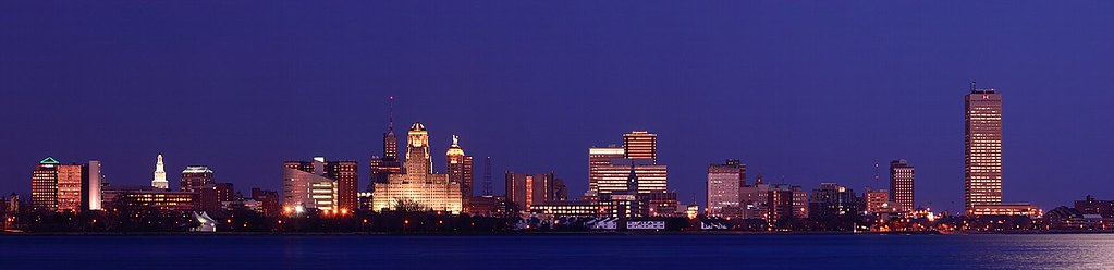 Buffalo Skyline during Blue Hour (DSH_1132-42)
