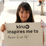 KLRU inspires me to... never give up!