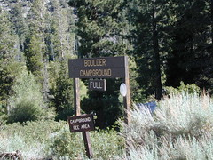 Boulder Campground Sign