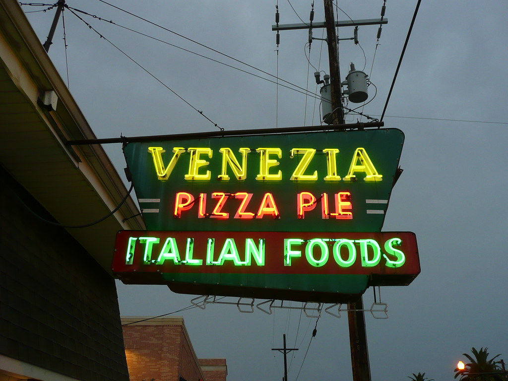 New Orleans, LA Venezia Pizza Pie neon sign