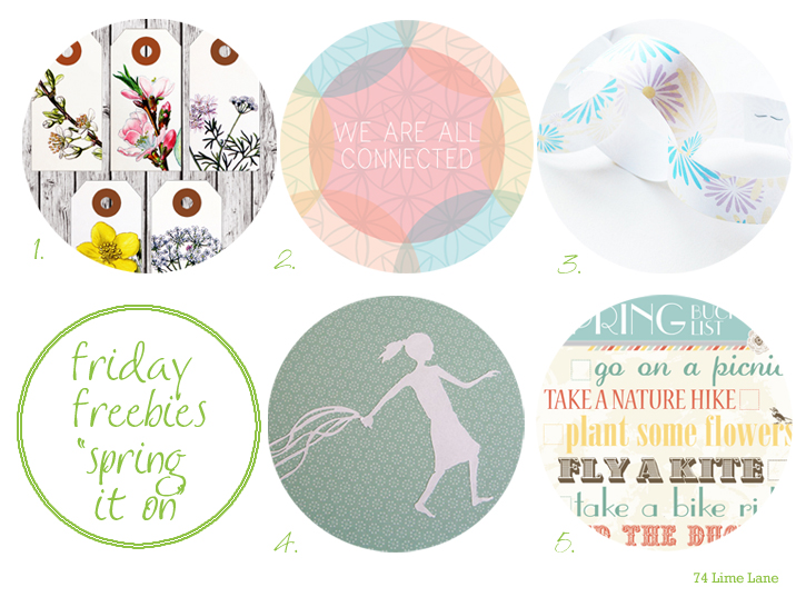 {friday freebies} spring it on